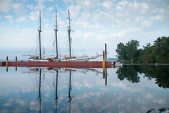Empire Sandy (NicoleW0000) Tags: empire sandy tall ship blue sky reflection lake ontario sailing