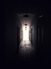 Hallway (turtlefreezer) Tags: hall corridor dark lowlight lights mystery uncanny doors tunnel