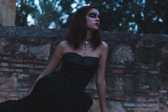 The Raven (estherblueberry) Tags: gothic portrait outdoors raven artistic