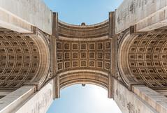 Arc (Bach Quoc-Anh) Tags: arcdetriomphe arc gate under architecture paris france city cityscape lookingup symmetry detail decoration monument monumental celebre building