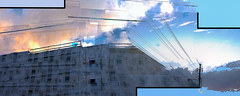 Gentrified Hellscapes, 39 (Caleb_The_FW) Tags: art gentrification urbanization conceptual photomerge hdr panorama blur double exposure cloudy sky condos development creative dreamscapes