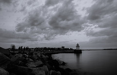 Maine's lighthouses #1 (Rabican7) Tags: maine lighthouse sea ocean portland usa architecture structure clouds sky slow longexposure mistywater bw monochrome blackandwhite explore