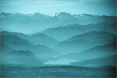 Misty Valley (mikeyp2000) Tags: mountains splittone duotone swizterland aerial alps