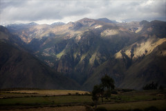 Colca Canyon (kate willmer) Tags: mountain canyon light shadow gorge hills fields clouds colcacanyon peru