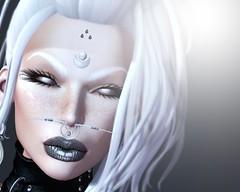 "Nevrose (Mistic Aura ""Nevrose"") Tags: nevrose mesh sl second life bindi piercing lips makeup hair girl women nose goth gothic"