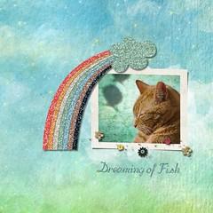 Dreaming of Fish (tina777) Tags: scrapbooking page serif craft artist digikit cat