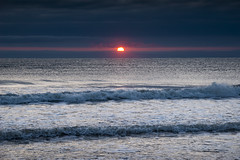Red sunrise (Keartona) Tags: dawn sunrise red glow sun horizon sea coast northyorkshire northsea waves seascape