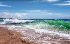 ONDAS. (manxelalvarez) Tags: ondas olas aguamarina verdeesmeralda costa litoral