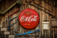 Things Go Better With Coke (Harry2010) Tags: cocacola vintage saw weathered licenceplate