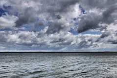 Cloudy landscape (radimersky) Tags: woda water lake jezioro turawa turawskie day dzień clouds cloudy chmury pochmurno krajobraz landscape europa europe poland polska opolske silesia windy wietrznie lumix dmclx100 lx100 panasonic micro 43 fourthirds skyline sky