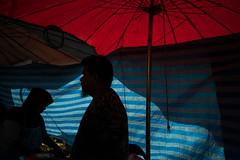 * (Sakulchai Sikitikul) Tags: street snap streetphotography summicron songkhla sony umbrella red blue muslim islamic thailand market silhouette 35mm leica a7s