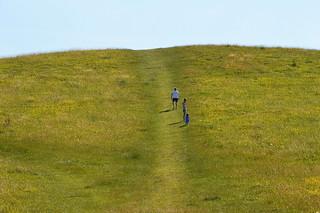 Walking on Pitstone Hill