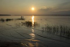 July sunset silhouettes (Barbara A. White) Tags: sunset ottawariver constancebay people silhouettes ripples lensstar landscape riverscape ontario