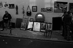 * (doistrakh) Tags: slr olympus om4ti zuikoautos40mmf2 filmcamera vintagecamera 135 film monochrome bw blackandwhite travel europe spain espana streetphotography elrastromarket fleamarket madrid