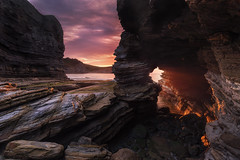 The Last Dragon's Breath (BIZKAIA) (Jonatan Alonso) Tags: bizkaia seascape barrika flysch sunset longexposure singhray rocks
