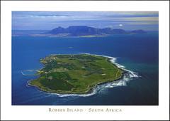 postcard - Robben Island 1 (Jassy-50) Tags: postcard robbenisland capetown southafrica nelsonmandela prison island apartheid unescoworldheritagesite unescoworldheritage unesco worldheritagesite worldheritage whs aerial