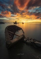 T H E _ L I G H T (Joseph Cañada) Tags: sunrise sunrisephotography seascape landscape landscapephotography shipwreck boat lightbleed clouds cloudsstormssunsetssunrises longexposure fineart fineartphotography canon canonphotography canonphilippines benrophilippines formatthitech firecrest stacruz davaodelsur mindanao philippines flickrunitedaward ngc nature