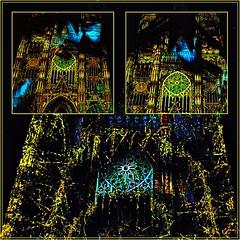 2 - Tours, Les illusions de la cathédrale (melina1965) Tags: juillet july 2007 centrevaldeloire indreetloire tours nikon d80 mosaïque mosaïques mosaic mosaics collages collage lumière light nuit night église églises church churches