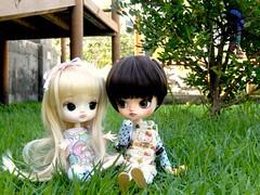 Friends ♥ (Pliash) Tags: dal doll madeleine dollies dolls cute kawaii little girls magical pink chan full custom grass green sunshine pullip groove asian fashion