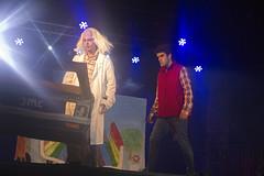 En la imagen se puede ver un momento del Playback de la txaranga Txepetxak titulado 'Regreso al pasado de la música'