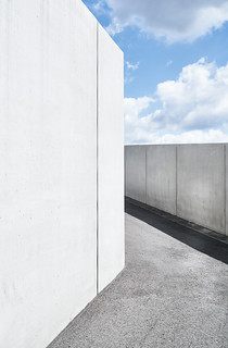 Architecture - path and clouds (Duisburg, Germany)