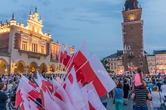 IMGP7321 (TomaszMazon) Tags: protest democracy krakow poland court antigovernment crowd
