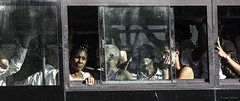 Window to Another World (Susan.Johnston) Tags: havana bus window cuba despair resignation hot crowded guagua localbus transportation windowwednesday candid