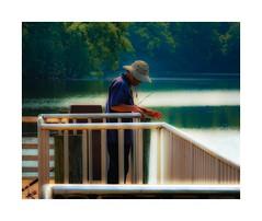 The Fisherman (sorrellbruce) Tags: summer summertime morninglight fishing fisherman