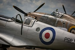 Spitfire & Hurricane (deltic17) Tags: bbmf lancaster spitfire hurricane bombercounty lincolnshire lestweforget