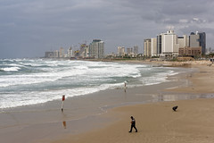 Tel Aviv 01 (mpetr1960) Tags: israel telaviv sea seaview building city sand beach people water wave nikon d810