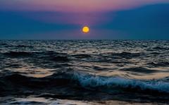 Beyond the Horizon (Caucas') Tags: sinop kafkas karadeniz sea nikon 85mm18g d7000 iso asa dalga blue azul sun sunset down güneş clouds red yellow sky high hopes floyd ocean beach wave