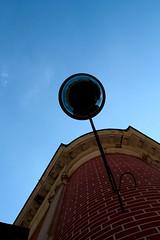 Sans Souci - Potsdam (Podrobnost) Tags: summer blue sky lamp lampe wall red brick potsdam sanssouci architecture