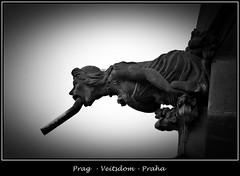 Gargoyles - 32 (fotomänni) Tags: prag prague praha gargoyles gargouille wasserspeier skulptur skulpturen veitsdom blackwhite schwarzweis noirblanc manfredweis