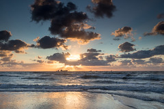 Sailing at the horizon (karindebruin) Tags: 12072017 westkapelle beach clouds coast dutch nederland leefilters zee sea holland hollands kust landscape landschap lucht nd09hardgrad noordzee netherlands northsea nature natuur strand sunset sky sand schip thenetherlands water wolken zonsondergang zand zeeland z