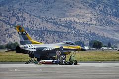 F-16 Special Paint Scheme Commemorates D-Day Invasion & P-47 Thunderbolts (Skip Plitt) Tags: usaf klamathfallsoregon kingsleyfield sentryeagle2017 149thfighterwing texasairnationalguard 2017sentryeagle f16c