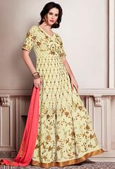 Cream Faux Georgette Long Anarkali Style Salwar Kameez (nikvikonline) Tags: cotton salwarkameez designerwear designer designercollection dailywear designersuit pakistanisuit partywear pakistanisalwarsuit pakistanikameez printed patiala patialasuit pakistanidress printedwork pakistaniwedding pakistaniwear