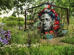 Poetry inspired graffiti (Aram Bagdasaryan) Tags: artwork installation poet graffiti flowers green