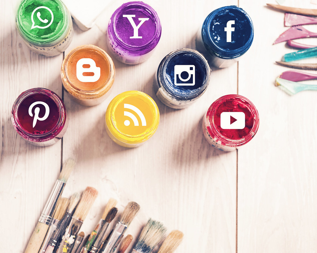 Social Media Logos on An Art Background by mikemacmarketing, on Flickr