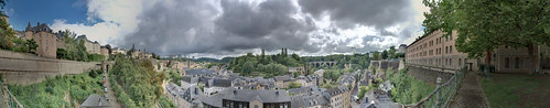 Panorama of Luxembourg City from near the Bock Casemates