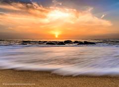 Dreamy Sunrise, Kovalam Beach, Chennai (Saravanan Ekambaram) Tags: chennai madras mychennai landscape seascape kovalam kovalamchennai kovalambeach sunrise dawn clouds horizon beach