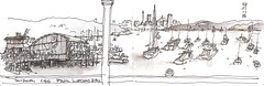 Sydney HarbourDOC250717-002 (panda1.grafix) Tags: sydneyharbour watsonsbay seascape landscapesketch inksketch