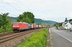 DBC 185 156, Niederheimbach (Sander Brands) Tags: trein treni train treno trenuri bombardier züg züge 185 br baureihe klv rhein rheintal rijn rail