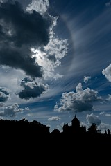 Solar Halo above Castle Howard in colours (pvizdal_photo) Tags: clouds solarhalo castlehoward silhouette