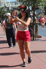 CND-WDW-19 (devnullimages) Tags: candid female disneyworld minnie ears brunette sunglasses shorts