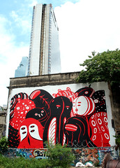 graffiti and streetart in bangkok (wojofoto) Tags: graffiti streetart bangkok thailand wojofoto wolfgangjosten mural motomichi