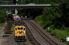 Knoche-Argentine Transfer (Jeff Carlson_82) Tags: bnsf atsf emd mo kct gp392 2789 santafe yellowbonnet transfer kansascity kansascityterminal northend mainst missouri train railfan railroad railway burlingtonnorthernsantafe kc