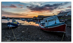 Last Light (peterwilson71) Tags: boats sundown skys rocks ropes reflections water sea buildings