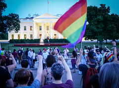 2017.07.26 Protest Trans Military Ban, White House, Washington DC USA 7679