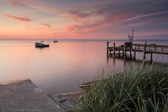 Rewa, Poland (P.W.Kozlowska) Tags: clouds landscape poland baltic sea seashore sunset calmness water