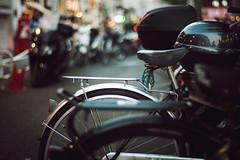 駅前夕景 (gol-G) Tags: fujifilm xt20 fujifilmxt20 digital carlzeiss zeissplanar50mmf14 planar1450zk color japan kobe bokeh bicycle 駐輪場